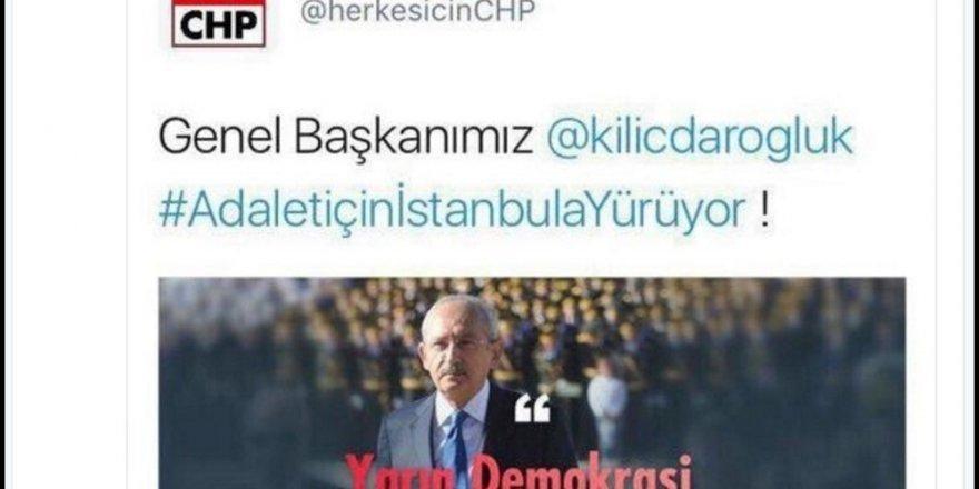 CHP'nin paylaştığı 'askerli afiş' tweet'ine tepki