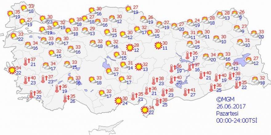 Yurtta hava durumu - 26 Haziran 2017