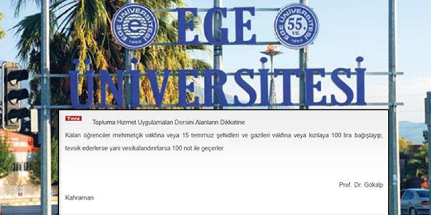 """Üniversite'den """"Devlet Vakfına Bağış Yap, Dersten Geç"""" Duyurusu"""