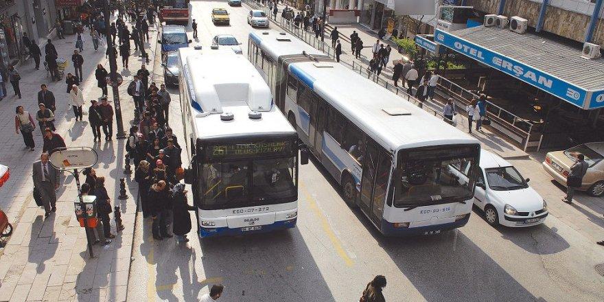Ankara'da toplu taşıma 2 gün ücretsiz