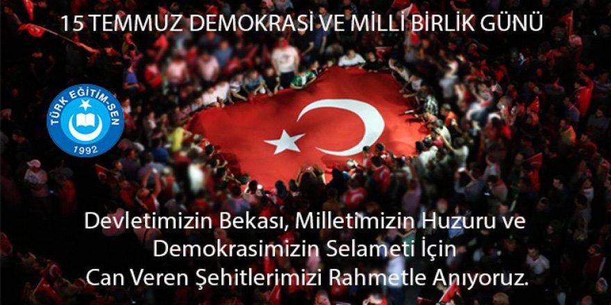 İsmail Koncuk'tan 15 Temmuz Mesajı