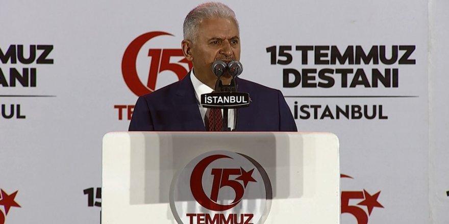 Başbakan Yıldırım: Milletimizin darbecilere darbeyi vurmuştur
