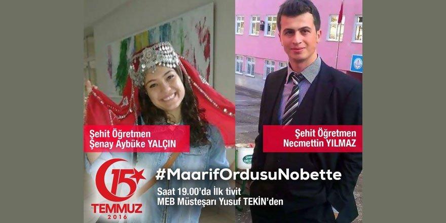 MEB'den 15 temmuz sosyal medya etkinliği #MaarifOrdusuNobette