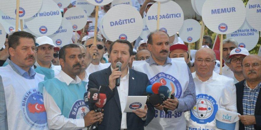 Memur-Sen toplu sözleşme taleplerini DPB'ye teslim etti