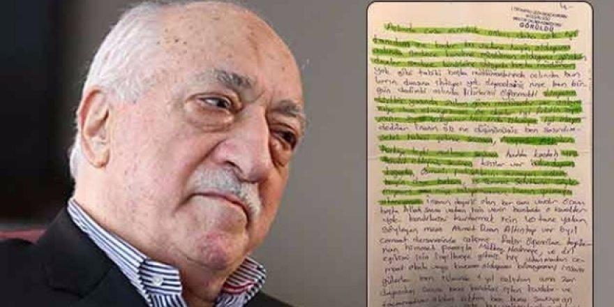 Cezaevinde FETÖ mektubu - Hainler ihanete cezaevinde de devam ediyor