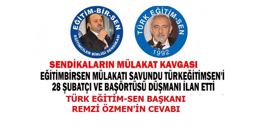 Eğitim-Bir-Sen - Türk Eğitim-Sen Başkanlarının Mülakat Tartışması