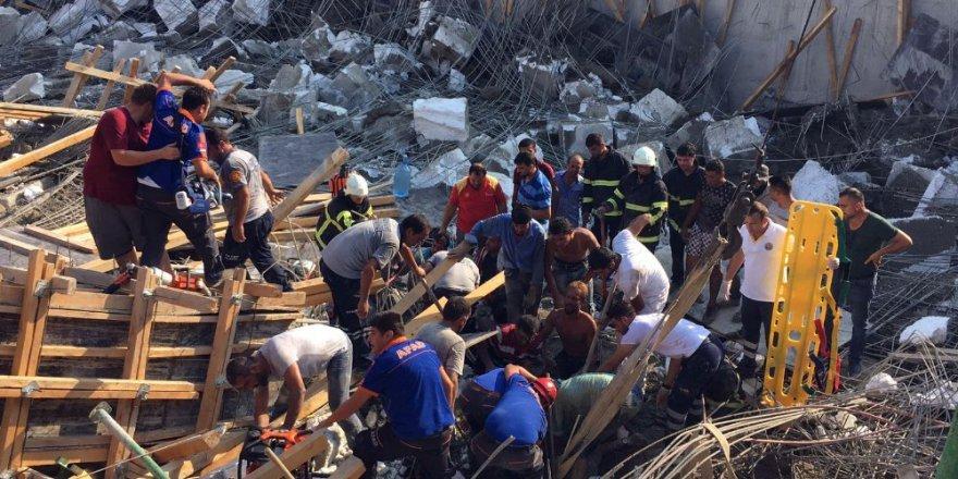 Okul inşaatında göçük: 1 ölü, 3 yaralı