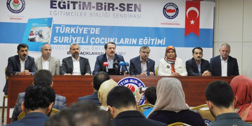 'Türkiye'de Suriyeli Çocukların Eğitimi: Güçlükler ve Öneriler' raporumuzu açıkladık