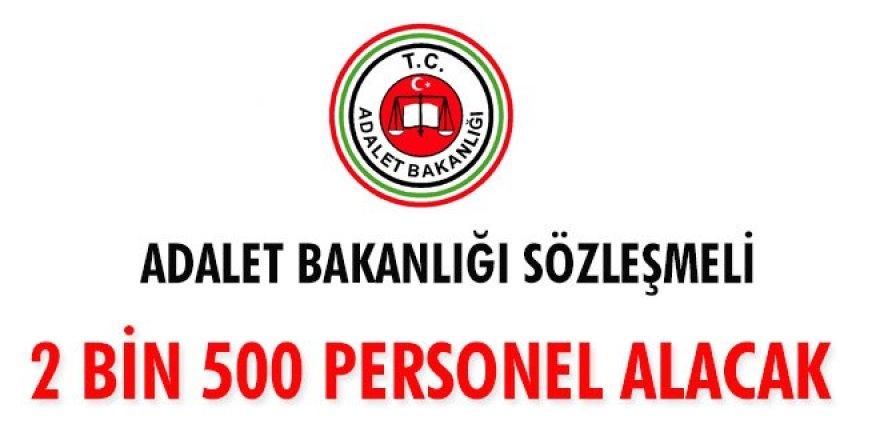 Adalet Bakanlığı sözleşmeli 2 bin 250 zabıt katibi, 250 mübaşir alacak