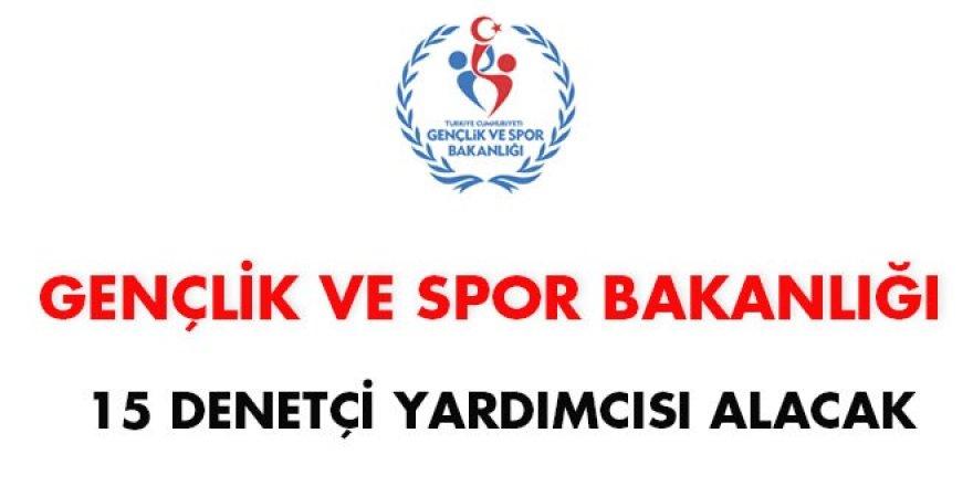 Gençlik ve Spor Bakanlığı 15 denetçi yardımcısı alacak