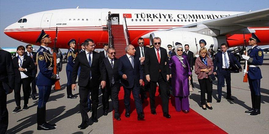 Cumhurbaşkanı Erdoğan Bakü'de