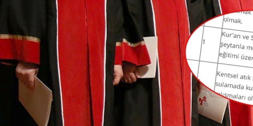 Üniversiteden 'Şeytanla mücadele edecek' doçent ilanı