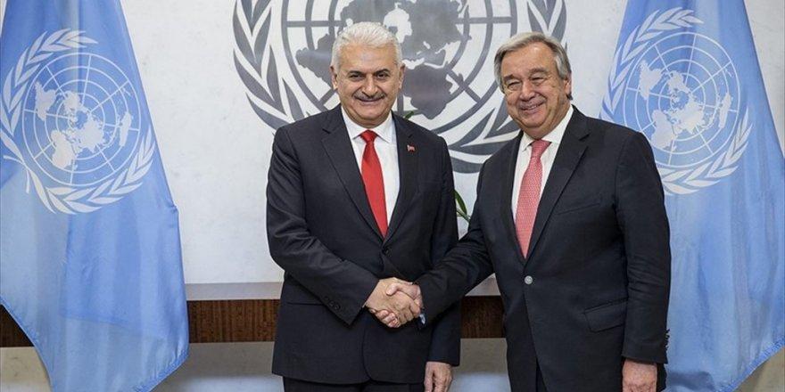 Başbakan Yıldırım, BM Genel Sekreteri Guterres ile görüştü