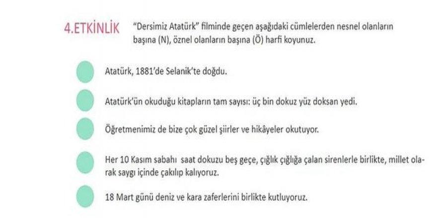 Bir Kitap Skandalı Daha! Türkçe ders kitabında Atatürk'e saygısızlık