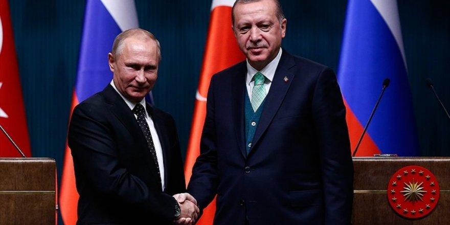 Cumhurbaşkanı Erdoğan ile Putin, Afrin ve İdlib'i görüştü