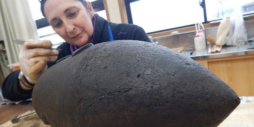Ertuğrul Fırkateyninden dünyadaki en eski mermiler çıkarıldı