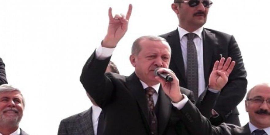 Cumhurbaşkanı Erdoğan'dan Bozkurt işareti