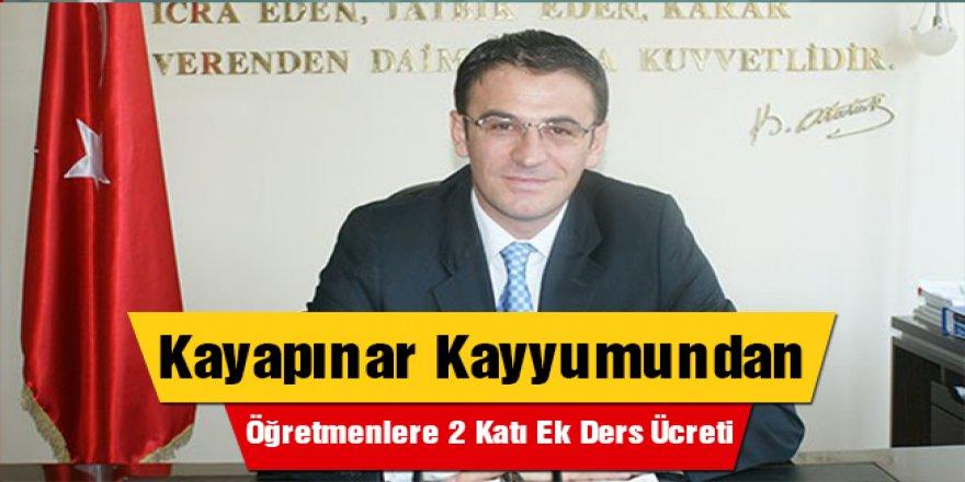 Kayyum Balcı'dan Öğretmenlere 2 Katı Ek Ders Jesti!