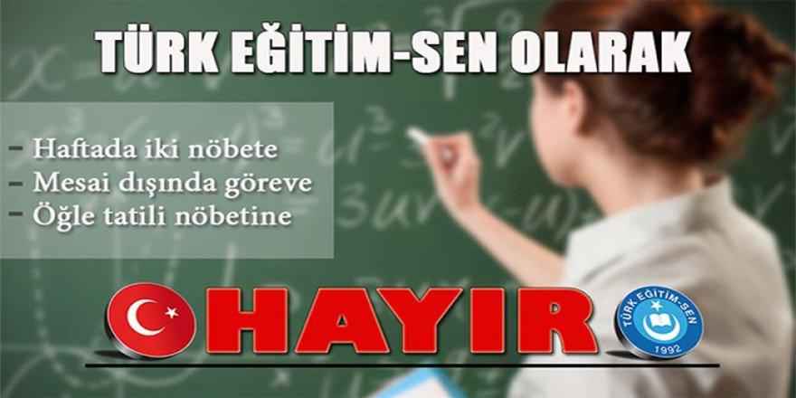 Türk Eğitim-Sen`den Eylem Kararı - 4 Eylem Birden!
