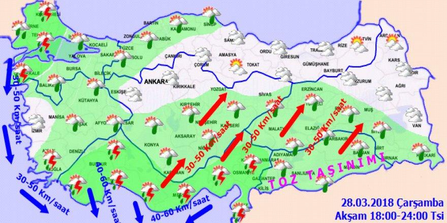 Meteoroloji'den sağanak yağış uyarısı! 28 Mart Yurtta hava durumu