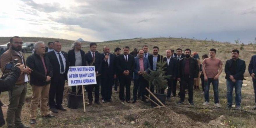 Türk Eğitim-Sen'den Afrin Şehitleri Hatıra Ormanı
