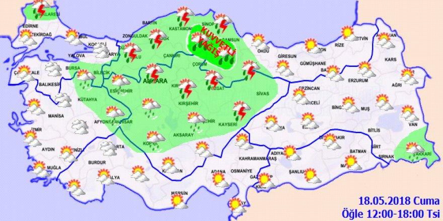 Bu illerde yaşayanlar dikkat! Sağanak yağış geliyor...18 Mayıs Cuma