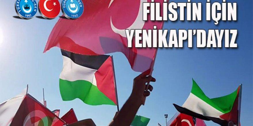 Türkiye Kamu-Sen Filistin Halkına Destek Mitingine Katılıyor