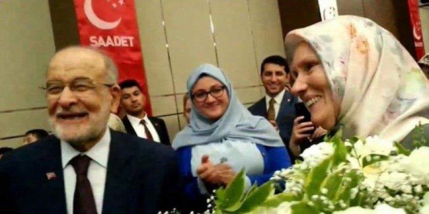 Karamollaoğlu'nun eşi ilk defa görüntülendi