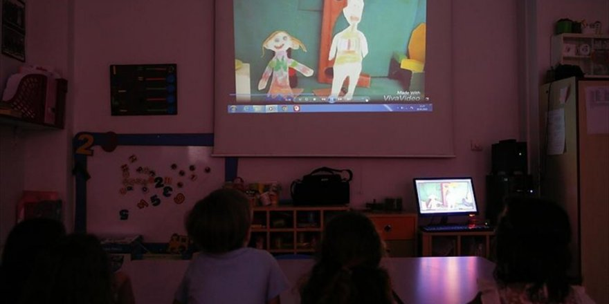Anaokulu öğrencileri bağımlılığa çizgi filmle dikkat çekiyor