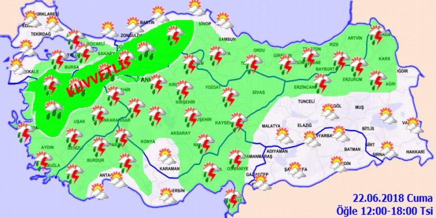 Bu illerde yaşayanlar dikkat! Sağanak yağış geliyor...22 Haziran Cuma
