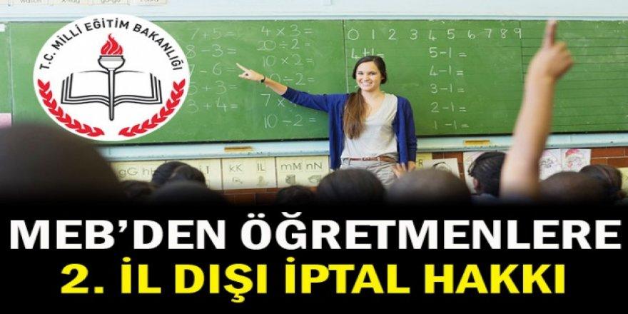 MEB'den öğretmenlere iİ dışı iptal hakkı