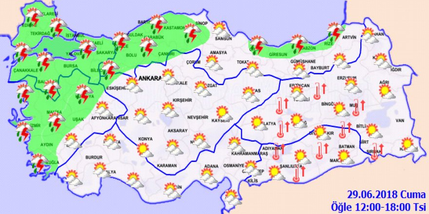 Bu illerde yaşayanlar dikkat! Sağanak yağış geliyor...29 Haziran Cuma yurtta hava durumu
