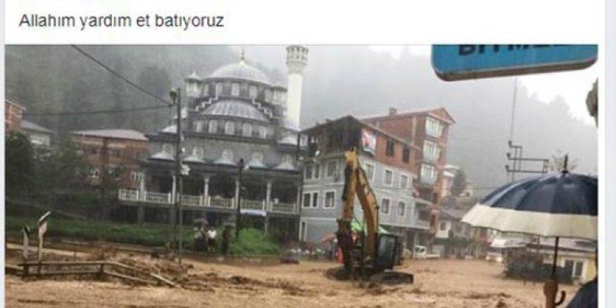 Sağanak sele döndü; başkan 'batıyoruz' paylaşımı yaptı