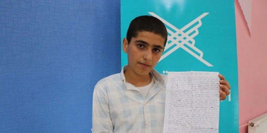 Diyarbakırlı öğrenciden Cristiano Ronaldo'ya 'İslam'a davet' mektubu