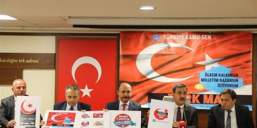 Kamu-Sen'den 'Yerli malı ve Türk Lirası' kampanyası