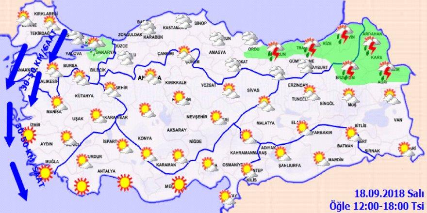 Bugün hava nasıl olacak?18 09 2018 yurtta hava durumu
