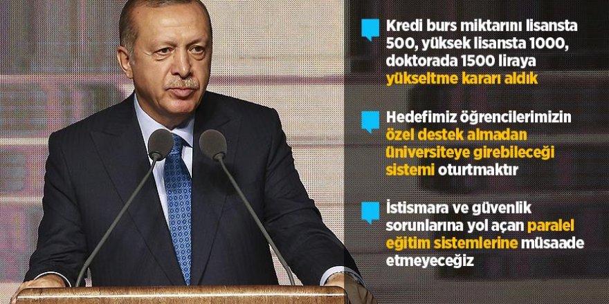 Erdoğan'dan burs müjdesi
