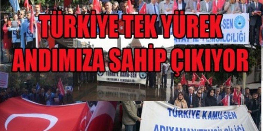 Türkiye Kamu-Sen Tüm İllerde Andımızı Coşkuyla Okudu