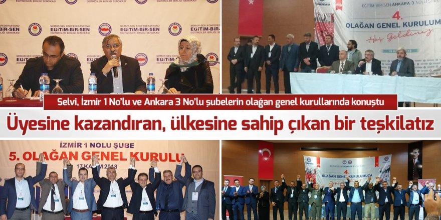 Eğitim-Bir-Sen Ankara ve İzmir Şubeleri Seçimleri Yapıldı