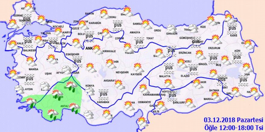 Meteoroloji'den buzlanma ve don uyarısı-Haritalı
