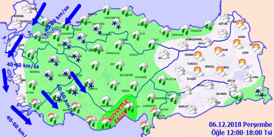 Meteorolojiden çok kuvvetli ve şiddetli yağış uyarısı! Haritalı