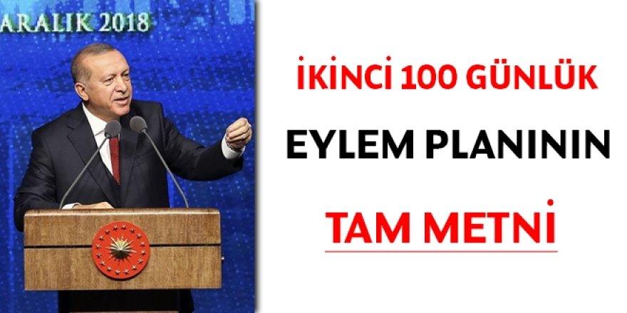 İkinci 100 günlük eylem planının tam metni