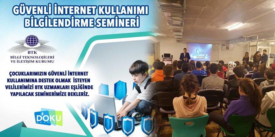 Doku Okulları'ndan Güvenli İnternet Kullanımı Semineri