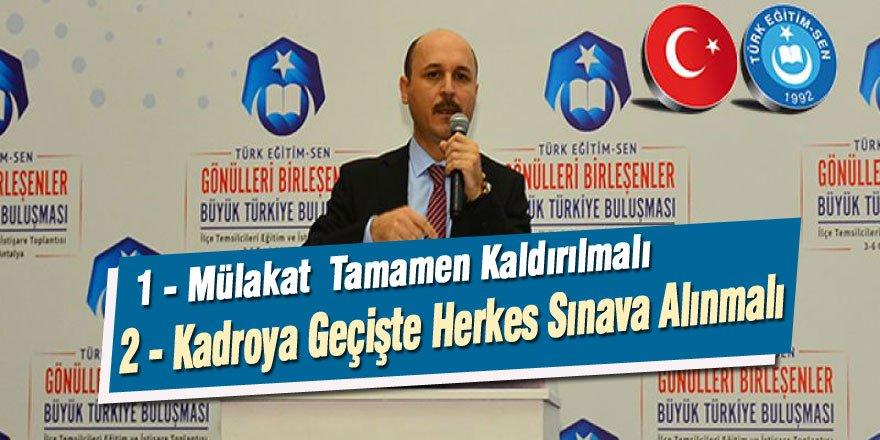 Talip Geylan'dan MEB'in Yönetici Atama Düzenlemesine 2 İtiraz
