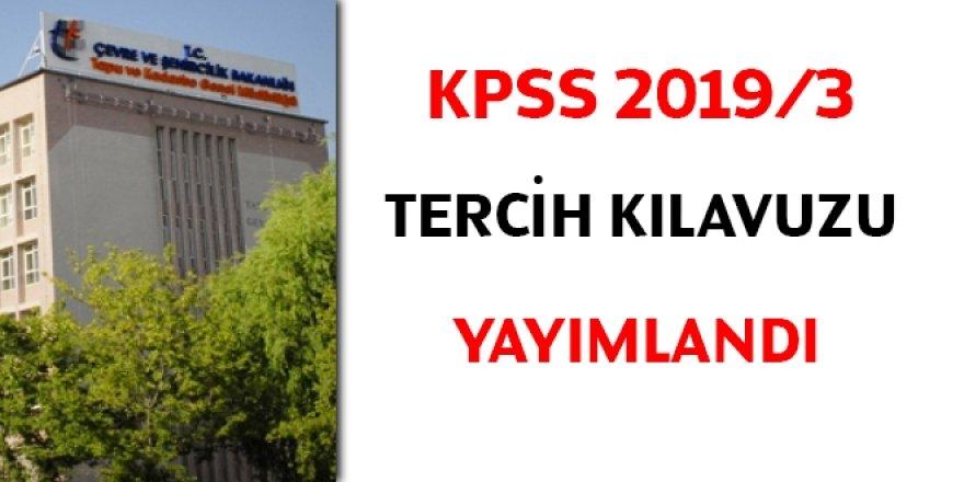 KPSS 2019/3 tercih kılavuzu yayımlandı... Tapu'ya 265 personel alınacak