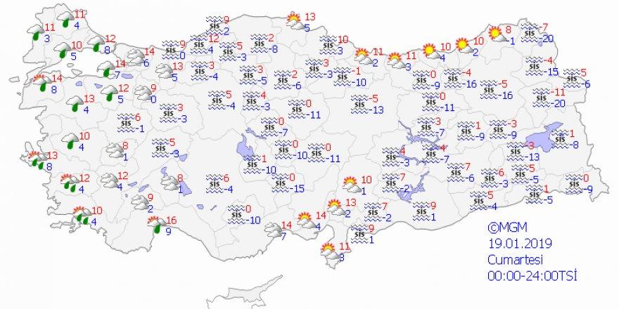 Ülkenin iç ve kuzeydoğusunda sıcaklık artacak
