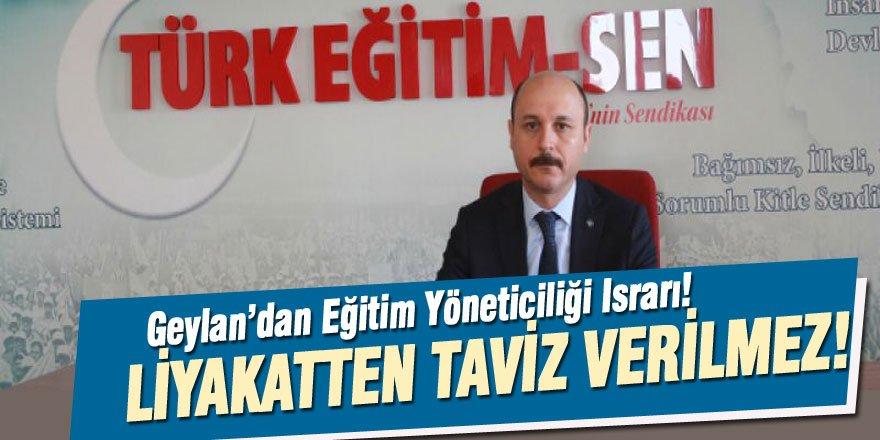"""Talip Geylan, Bakan Selçuk'a """"Liyakatte"""" Israra Devam Ediyor"""