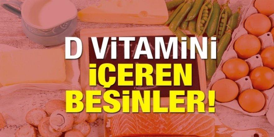 D vitamini eksikliğine iyi gelen besinler!