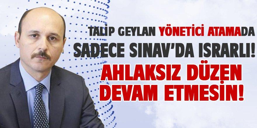 """MEB Yönetici Atamada """"Sadece Sınav"""" Israrı"""