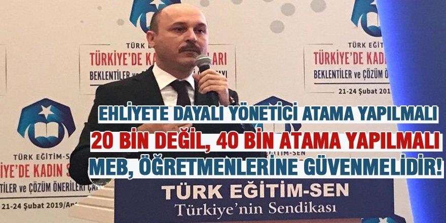 Talip Geylan'dan Yönetici Atama, Öğretmen Atama ve Değerler Eğitimi Açıklaması